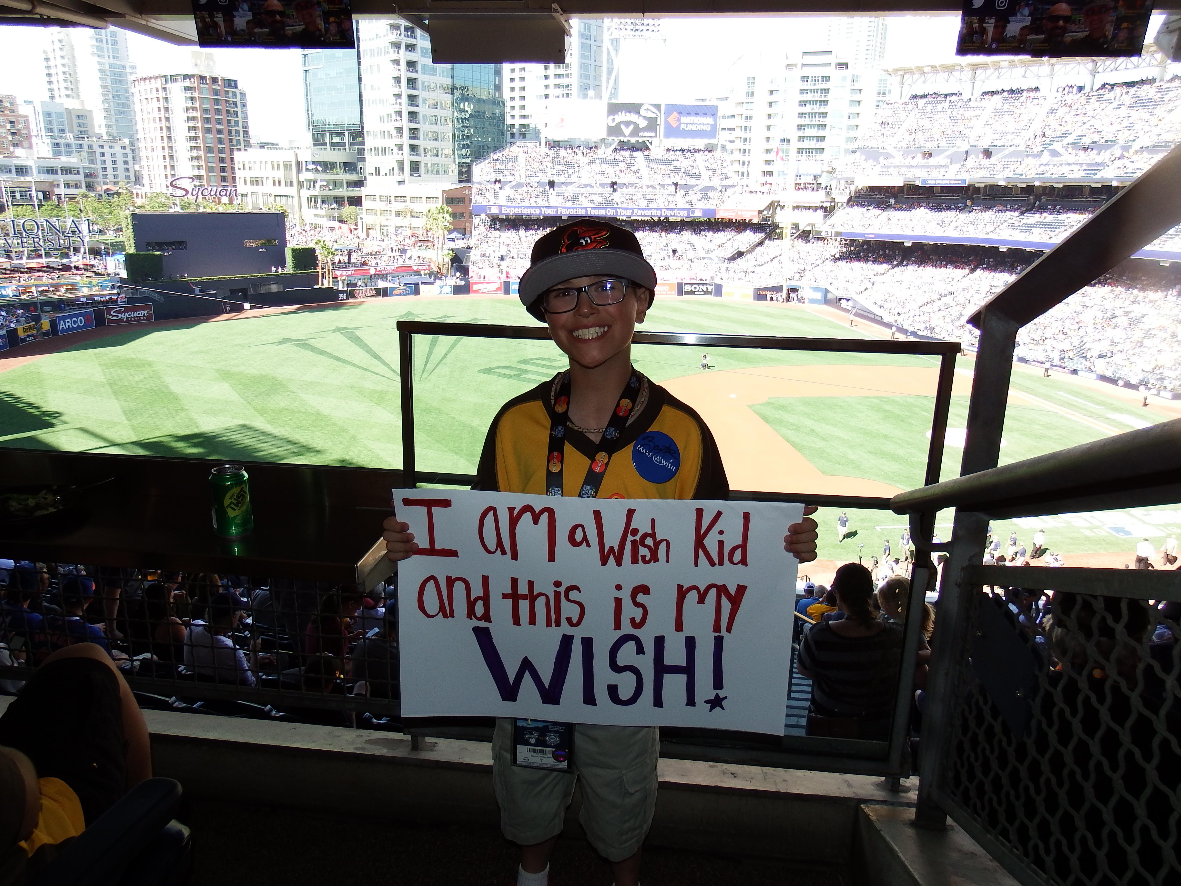 Aidan Briggs, Wish Kid at MLB All Star Game 2016