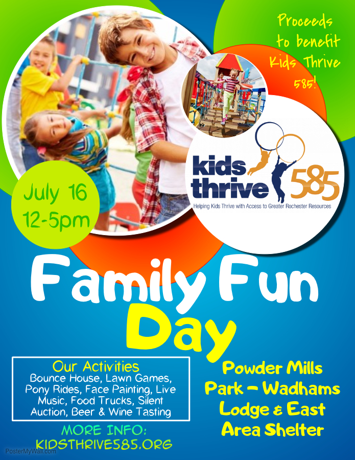 Family Fun Day Fundraiser Kids Thrive 585